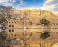Amer Fort est situé à Amer, Ràjasthàn, Inde Photo libre de droits