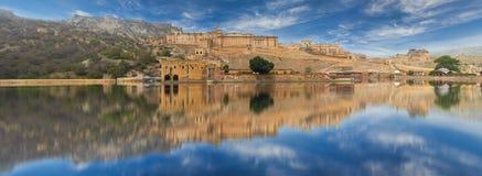 Amer Fort est situé à Amer, Ràjasthàn, Inde Images libres de droits