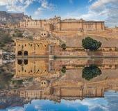 Amer Fort est situé à Amer, Ràjasthàn, Inde Photos libres de droits