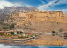 Amer Fort est situé à Amer, Ràjasthàn, Inde Photos stock