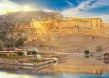 Amer Fort est situé à Amer, Ràjasthàn, Inde Photographie stock