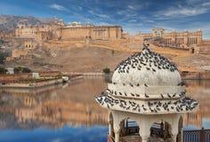 Amer Fort est situé à Amer, Ràjasthàn, Inde Image libre de droits