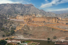 Amer Fort est situé à Amer, Ràjasthàn, Inde Image stock