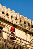 Amer fort guard, Jaipur, India Stock Photos