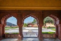 Amer Fort i Jaipur, Rajasthan, Indien Arkivfoton