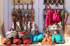AMER FORT ( JAIPUR ). This picture will take in AMER fort dolls of dancing by fingers its very old culture in Jaipur city Stock Photo