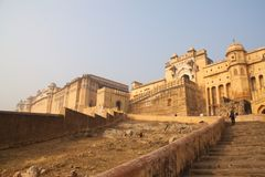 Amer Fort, Jaipur, Rajastan, Inde 2012, 2ème le janvier, Photo stock