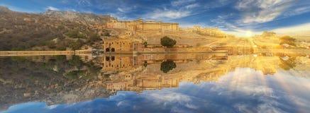 Amer Fort lokaliseras i Amer, Rajasthan, Indien Royaltyfri Bild