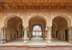 Amer Fort lokaliseras i Amer, Rajasthan, Indien Fotografering för Bildbyråer