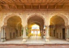Amer Fort lokaliseras i Amer, Rajasthan, Indien Arkivbilder