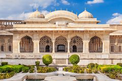 Amer Fort near Jaipur. Amer Fort outside Jaipur in Rajasthan is one of the major tourist attractions in India Stock Image