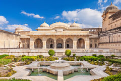 Amer Fort near Jaipur. Amer Fort outside Jaipur in Rajasthan is one of the major tourist attractions in India Royalty Free Stock Image