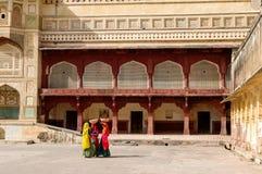 Amer-Fort in Rajasthan, Indien Lizenzfreies Stockfoto