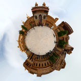 Amer Fort Stereographic. The Amer fort complex outside Jaipur as a Stereographic projection royalty free stock image