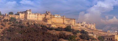 Amer Fortress et palais massifs près de Jaipur, Inde Photographie stock libre de droits