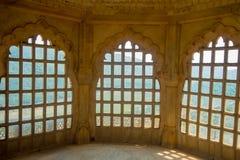 Amer, Inde - 19 septembre 2017 : Écran de marbre complexe en Amber Fort, près de Jaipur, le Ràjasthàn, Inde Photos stock