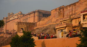 Amer pałac lub Amer fort () jaipur Rajasthan indu Zdjęcia Stock
