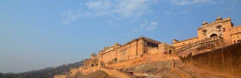 Amer pałac lub Amer fort widok () jaipur Rajasthan indu Obraz Stock