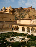 Amer Palace. Amer fort palace in Jaipur, Rajasthan, India stands on a mountain and is a important tourist destination for visitors from domestic and Royalty Free Stock Photography
