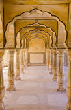 Amer Palace near Jaipur, Rajasthan. Archways within the Amer Palace in Jaipur Stock Image