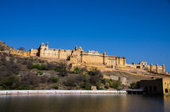Amer Palace near Jaipur, Rajasthan. Amer Palace in Jaipur seen from a distance Stock Images