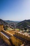 Amer Palace perto de Jaipur, Rajasthan Imagem de Stock Royalty Free