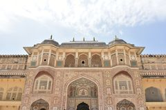 Amer Rajput Fort architecture, Amber, Jaipur, Rajasthan. Amer Rajput Fort architecture view at Amber, Jaipur, Rajasthan, India Royalty Free Stock Photography