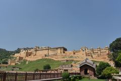 Amer Rajput Fort architecture, Amber, Jaipur, Rajasthan. Amer Rajput Fort architecture view at Amber, Jaipur, Rajasthan, India Stock Photography