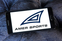 Amer Sports-Firmenlogo Lizenzfreies Stockbild
