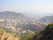 Amer Town et Amer Palace de fort de Jaigarh, Jaipur, Ràjasthàn, Inde Photos stock