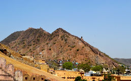 Amer town in the foothills of aravali mountains, outskirt Jaipur Rajasthan India. Amer town has historic importance. It is spread in a small area of 4square Royalty Free Stock Images