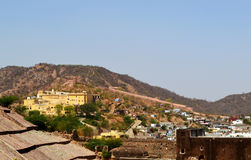 Amer town in the foothills of aravali mountains, outskirt Jaipur Rajasthan India. Amer town has historic importance. It is spread in a small area of 4square Royalty Free Stock Photo