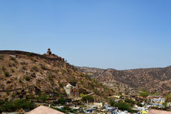 Amer town in the foothills of aravali mountains, outskirt Jaipur Rajasthan India. Amer town has historic importance. It is spread in a small area of 4square Stock Images