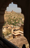 Amer village from Amber palace, Jaipur, India. Royalty Free Stock Photography