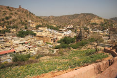 Amer village from Amer palace, Jaipur, India. Royalty Free Stock Photo