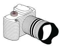 Сamera. Image camera made in a simple style of the lines Stock Image