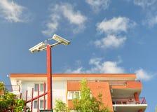 �amera surveillance. �amera surveillance  at home. Seaside resort Stock Image