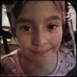 Amerasian flicka Arkivbilder