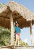 Amerasian girl high on a platform royalty free stock images