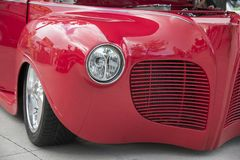 Amercan classic cars. Detail of classic custom American show car Royalty Free Stock Photography