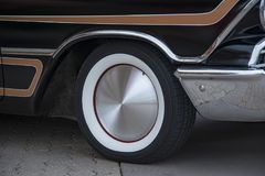 Amercan classic cars. Detail of classic custom American show car Stock Images