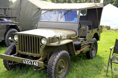 1960 Amercan Hotchkiss jeep. A vitage American Hotchkiss jeep on display at the Cromford Steam Rally, Tansley near Matlock, Derbyshire, England, UK. August 2014 Stock Image