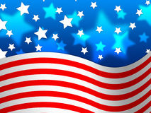 Amercian Flag Background Means Stripes And Stars Royalty Free Stock Images