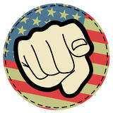 Amercian patch Royalty Free Stock Image