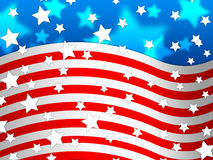 Amercican Flag Background Means Country Pride And America Royalty Free Stock Photos