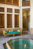 Ameri历史议院内部在喀山,伊朗 库存图片