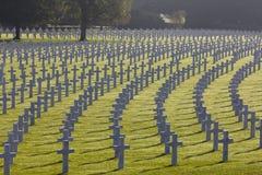 Amerian坟墓亨利Chapelle公墓 库存图片