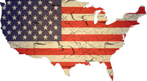americ flaggatextur Fotografering för Bildbyråer