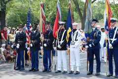 Americaâs una parata di 2008 feste dell'indipendenza. fotografia stock libera da diritti