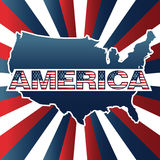 America. Nation with name in flag colors Royalty Free Stock Images